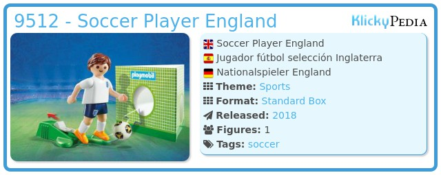 Playmobil 9512 - Soccer Player England