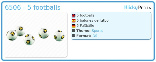Playmobil 6506 - 5 footballs