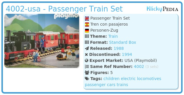 Playmobil 4002-usa - Passenger Train Set