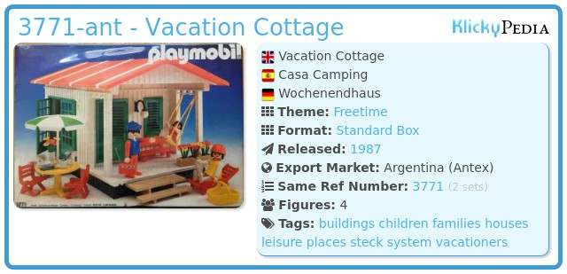Playmobil 3771-ant - Vacation Cottage