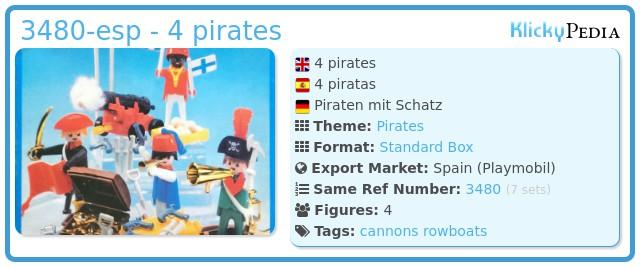 Playmobil 3480-esp - 4 pirates