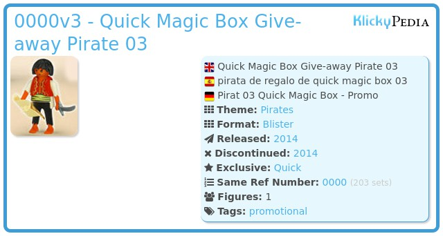 Playmobil 0000v3 - Quick Magic Box Give-away Pirate 03