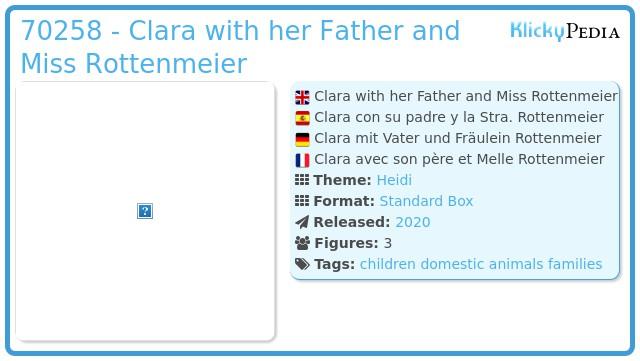 Playmobil 70258 - Clara mit Vater und Fräulein Rottenmeier