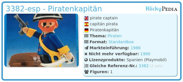 Playmobil 3382-esp - Piratenkapitän