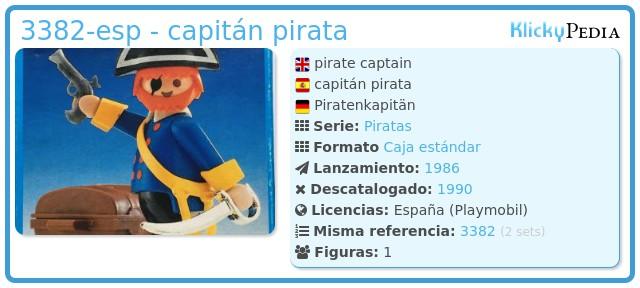 Playmobil 3382-esp - capitán pirata