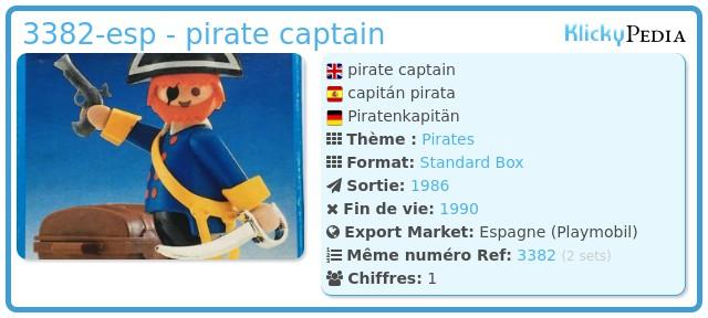 Playmobil 3382-esp - pirate captain