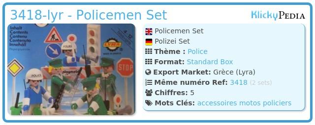 Playmobil 3418-lyr - Policemen Set