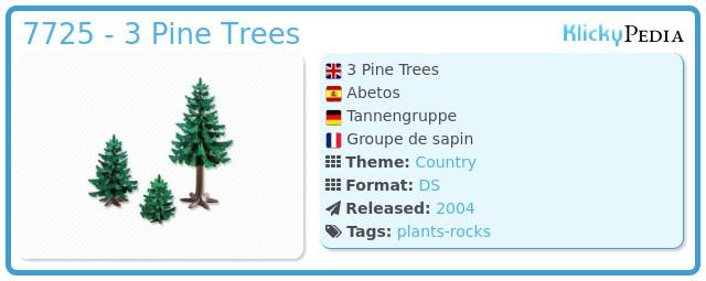 Playmobil 7725 - 3 Pine Trees