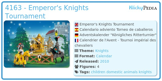 Playmobil 4163 - Emperor's Knights Tournament