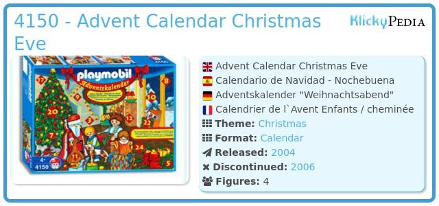 Playmobil 4150 - Advent Calendar Christmas Eve