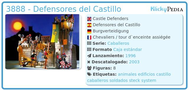 Playmobil 3888 - Defensores del Castillo