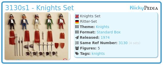 Playmobil 3130s1 - Knights Set