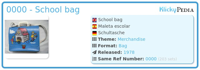 Playmobil 0000 - School bag