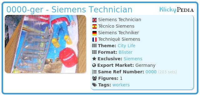 Playmobil 0000-ger - Siemens Technician