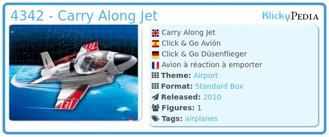 Playmobil 4342 - Carry Along Jet