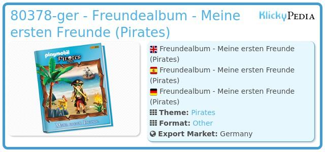 Playmobil 80378-ger - Freundealbum - Meine ersten Freunde (Pirates)