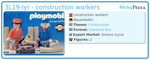Playmobil 3L19-lyr - construction workers