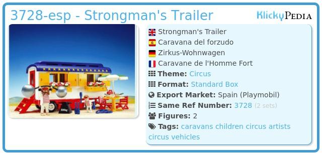 Playmobil 3728-esp - Strongman's Trailer