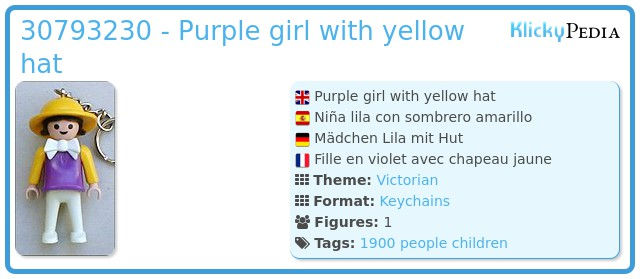 Playmobil 30793230 - Purple  girl with yellow hat
