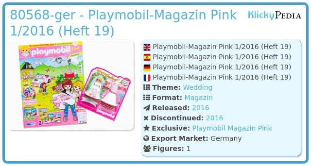 Playmobil 80568-ger - Playmobil Magazin Pink 01/2016 (Heft 19)