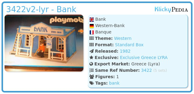Playmobil 3422v2-lyr - Bank