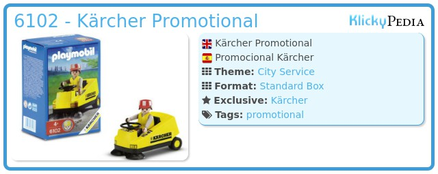 Playmobil 6102 - Kärcher Promotional