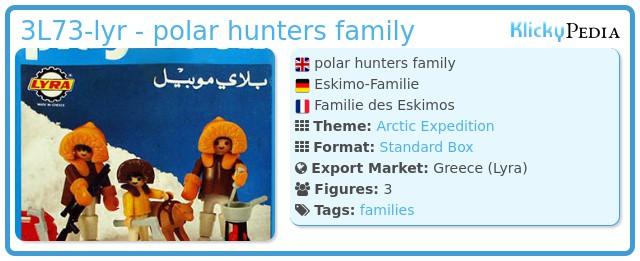 Playmobil 3L73-lyr - polar hunters family