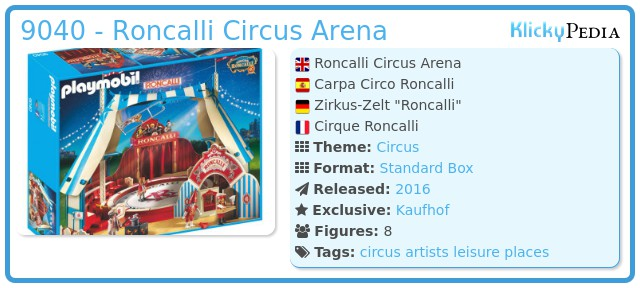 Playmobil 9040 - Roncalli Circus Arena
