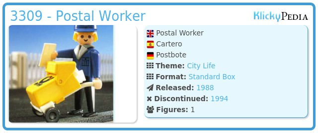 Playmobil 3309 - Postal Worker