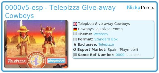 Playmobil 0000v5-esp - Telepizza Give-away Cowboys