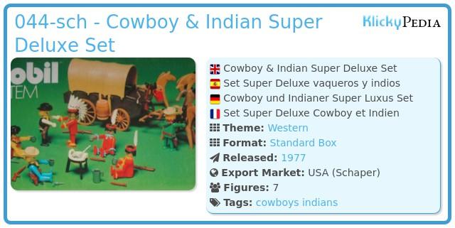 Playmobil 044-sch - Cowboy & Indian Super Deluxe Set