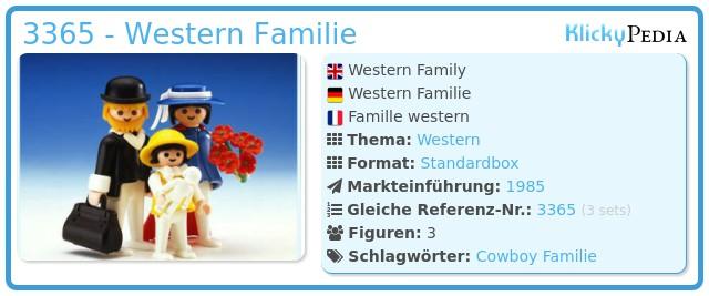 Playmobil 3365 - Western Familie