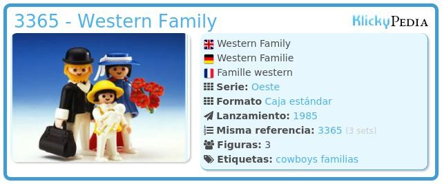 Playmobil 3365 - Western Family
