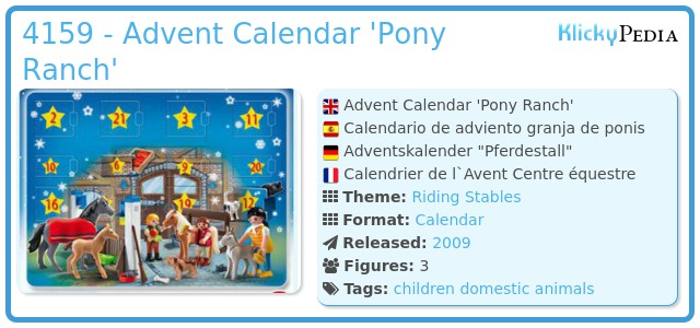 Playmobil 4159 - Advent Calendar 'Pony Ranch'