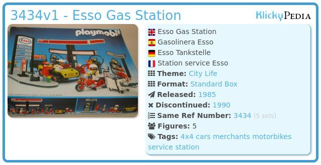 Playmobil 3434v1 - Esso Gas Station