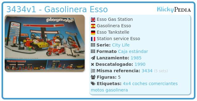 Playmobil 3434v1 - Gasolinera Esso