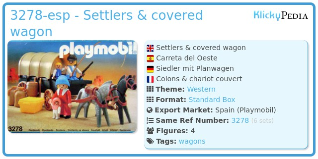 Playmobil 3278-esp - Settlers & covered wagon