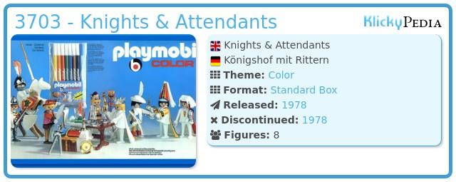 Playmobil 3703 - Knights & Attendants
