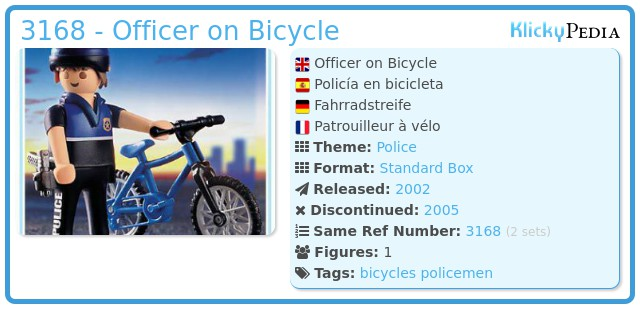 Playmobil 3168 - Officer on Bicycle