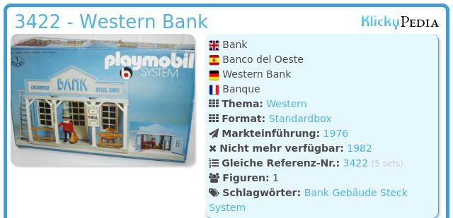 Playmobil 3422 - Western Bank