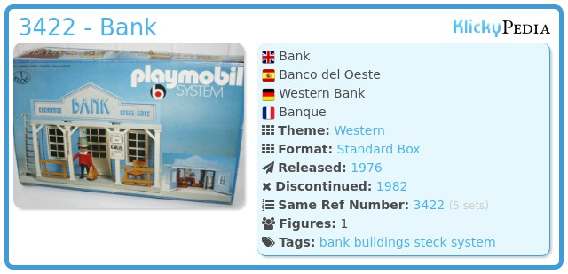 Playmobil 3422 - Bank