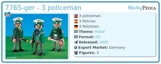 Playmobil 7765-ger - 3 policeman
