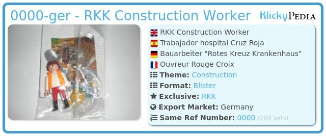 Playmobil 0000-ger - RKK Construction Worker
