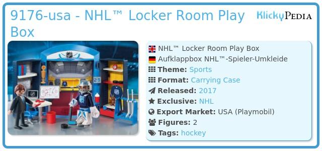 Playmobil 9176-usa - NHL™ Locker Room Play Box