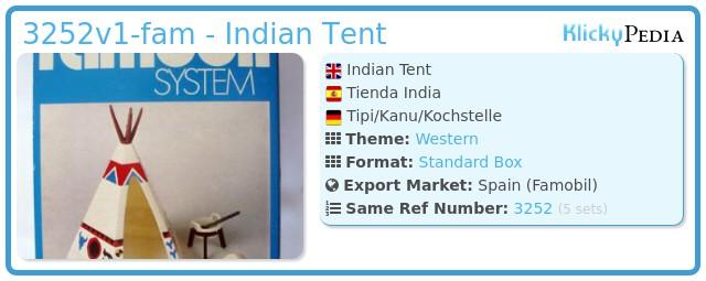 Playmobil 3252v1-fam - Indian Tent