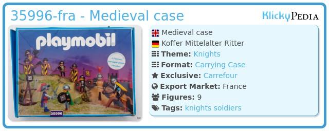 Playmobil 35996-fra - Medieval case