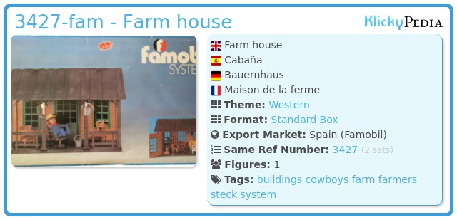Playmobil 3427-fam - Farm house