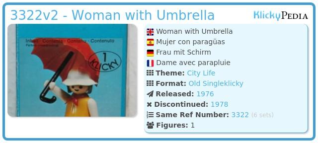 Playmobil 3322v2 - Woman with Umbrella