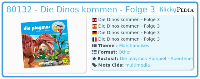 Playmobil 80132 - Die Dinos kommen - Folge 3