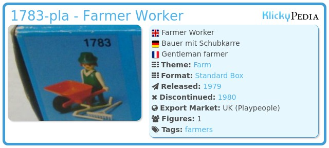 Playmobil 1783-pla - Farmer Worker